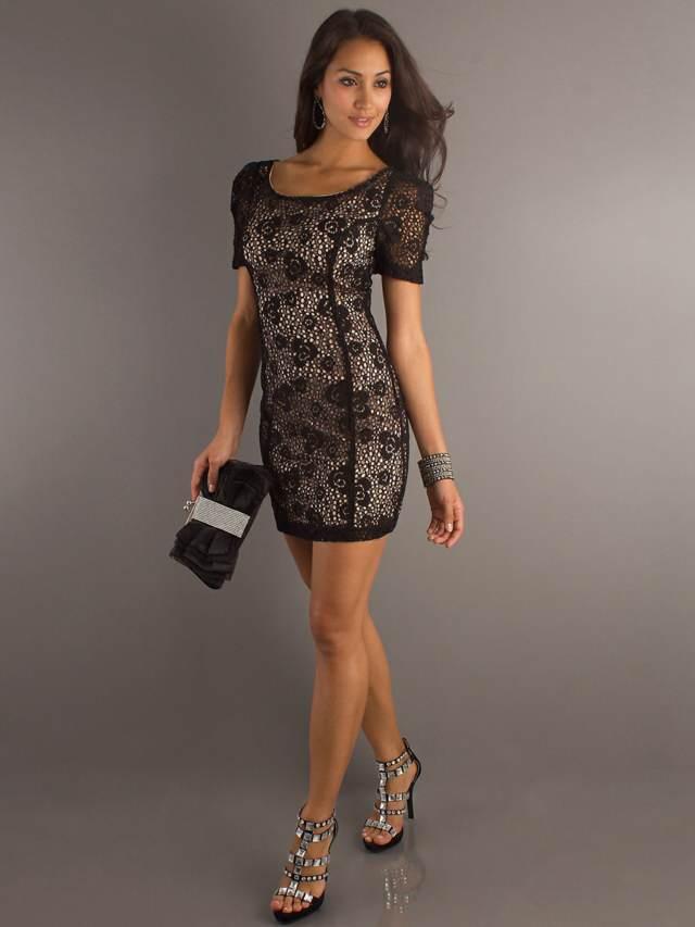 vestido elegante moda en encaje fiesta despedida de soltera
