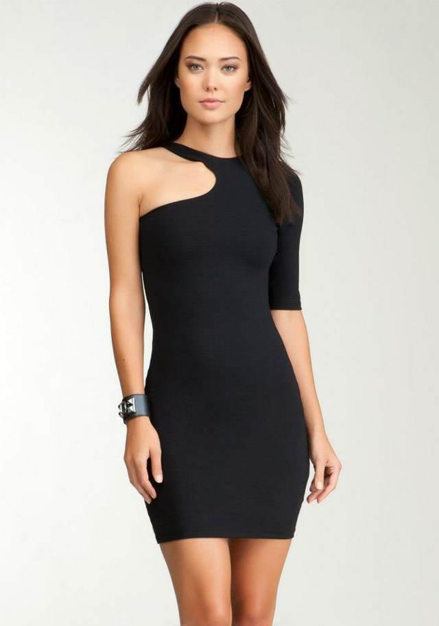 vestido elegante fiesta color negro modelo maravilloso