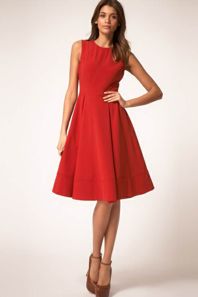 vestidos madrina bautizo color rojo tendencias modernas