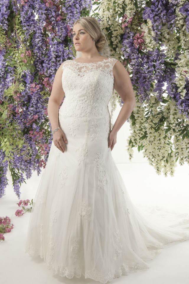vestidos de novia para gorditas 2015 escote ilusión
