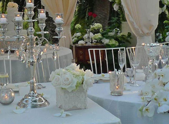 estilo vintage centros de mesa para boda