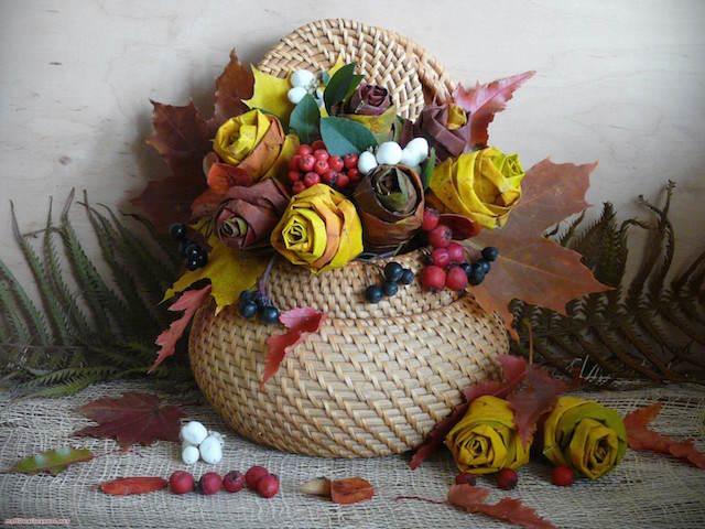 arreglos florales creativos papel artificiales