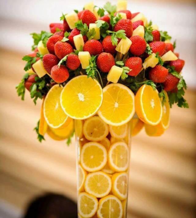 arreglos frutales centros de mesa preciosas
