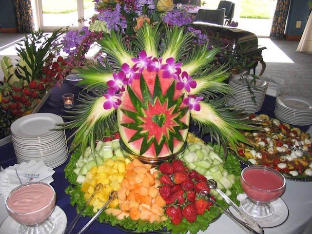 arreglos frutales eventos corporativos decoración mesa