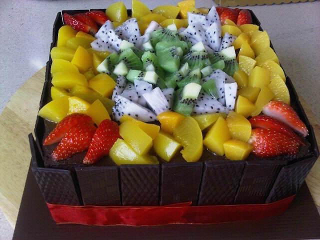 arreglos frutales pastel evento corporativo