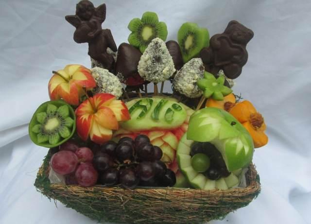 fantásticos arreglos frutales ramos de frutas ideas originales