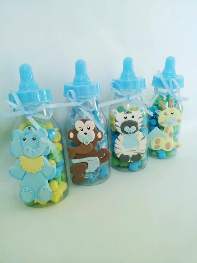 biberón dulces animales recuerdos para baby shower
