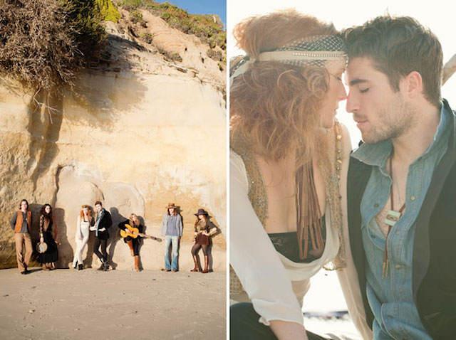 boda en la playa estilo boho chic trajes de novio