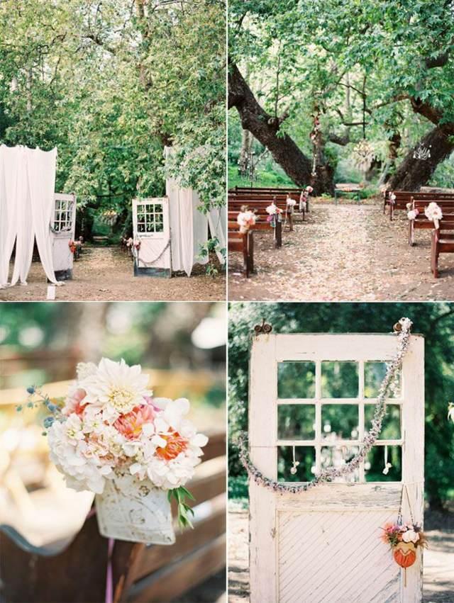boda fantástica estilo bohemio decoración temática flores
