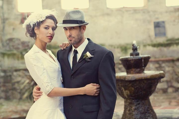 boda vintage trajes de novio moda 2015