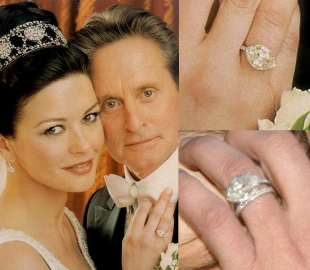 catherine zeta jones anillo boda ideas famosas