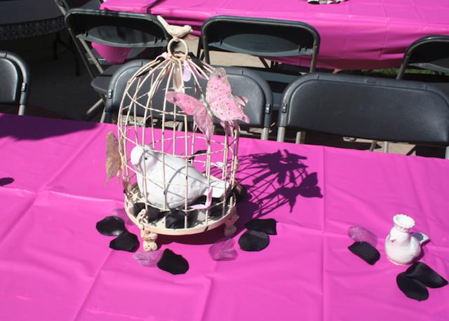 centros de mesa estilo aves feliz cumpleaños