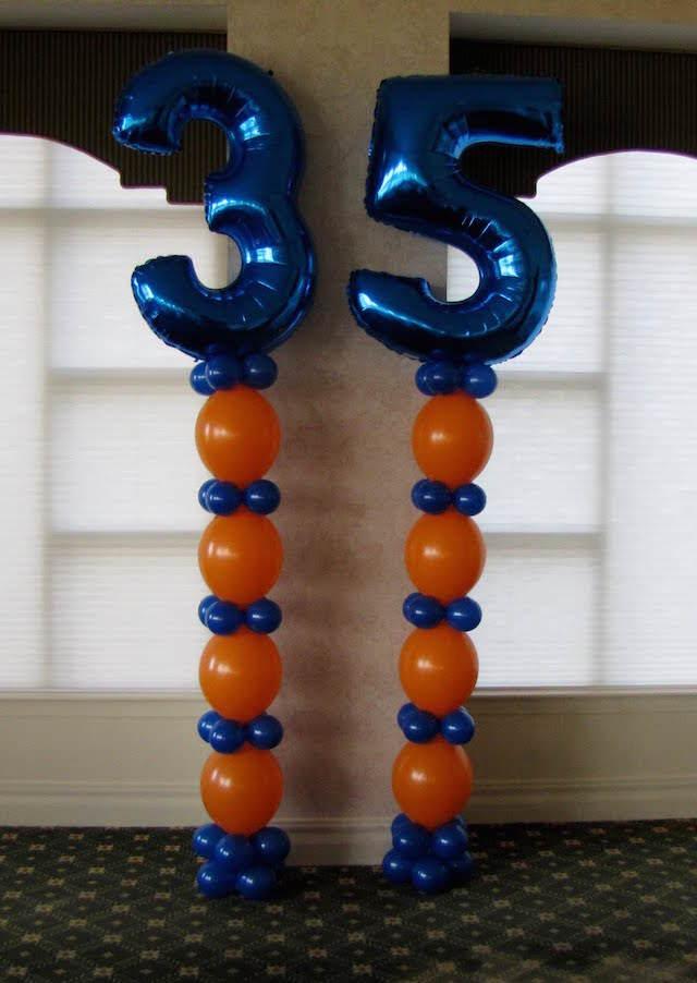 Decoracion en globos for Decoracion con globos 50 anos