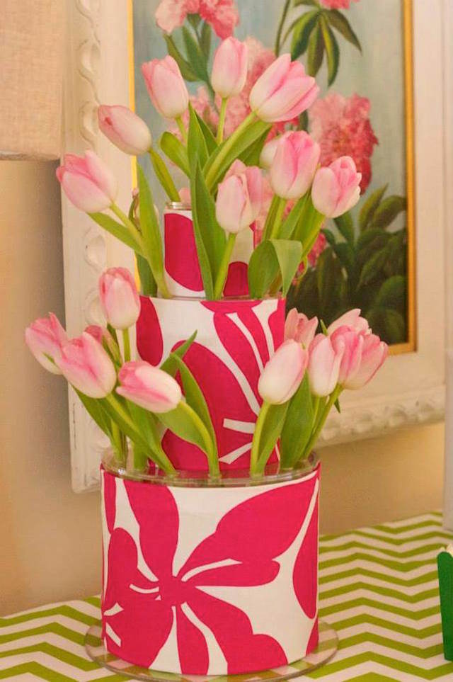 decoración con tulipanes ideas no estándares