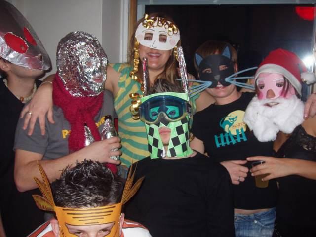 divertida fiesta feliz cumpleaños máscaras originales