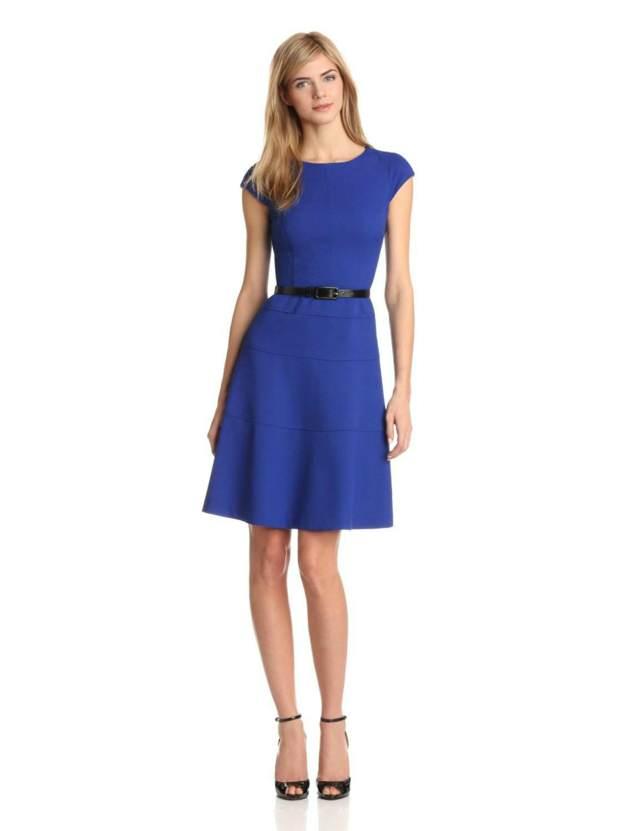 elegante vestido color azul fiesta aniversario inolvidable