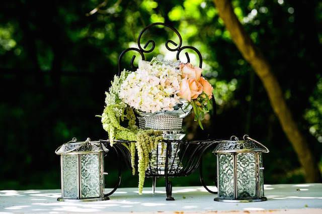 elegantes arreglos florales tema vintage