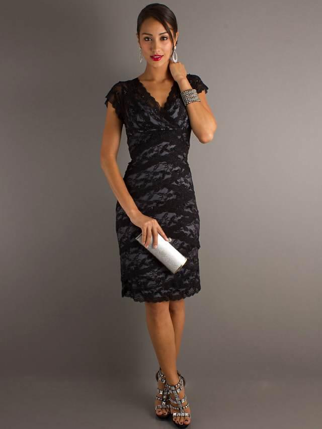 elegantes vestidos encaje color negro ideas aniversario