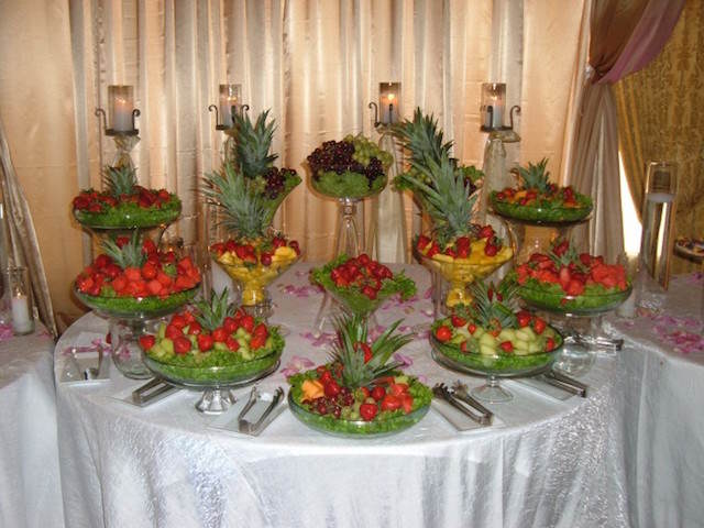 evento elegante ideas decoración original frutas