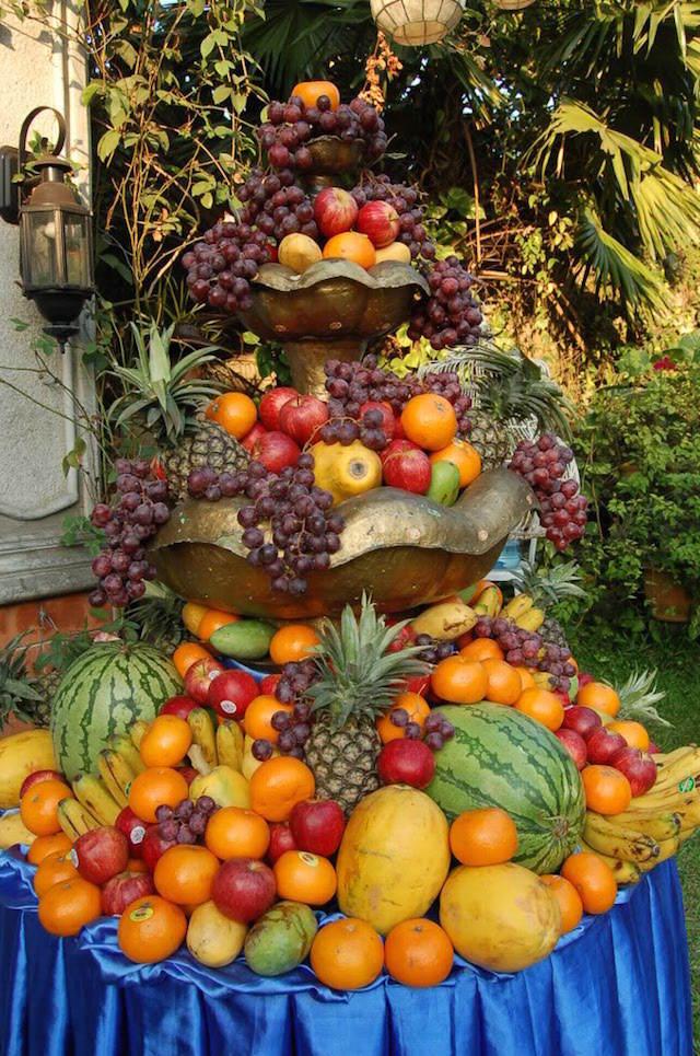 magnífica decoración arreglos frutales fiesta temática