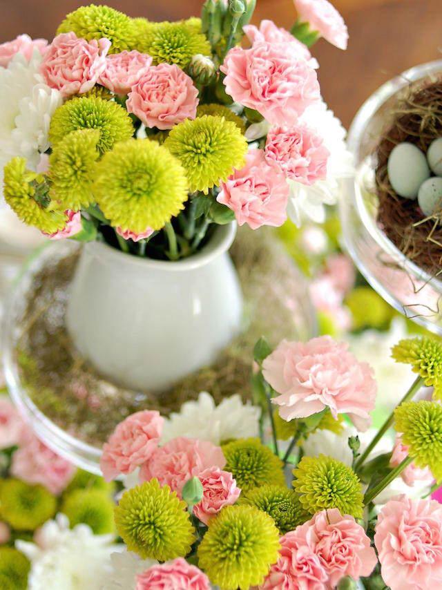 magnífica decoracion flores colores tiernos