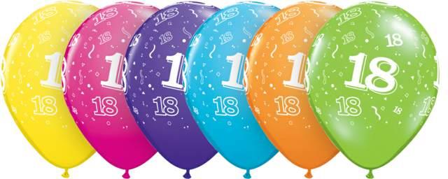 feliz cumpleaños 18 fiesta temática globos máscaras