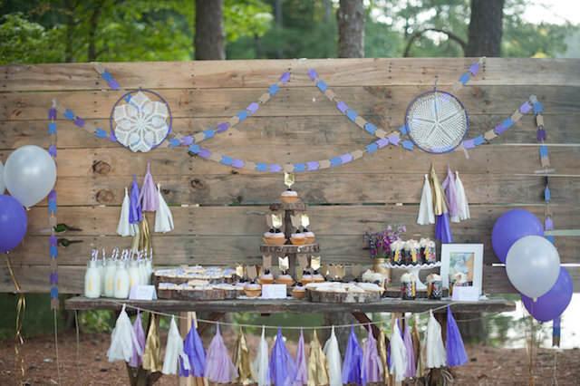 feliz cumpleaños preciosa decoración bohemia
