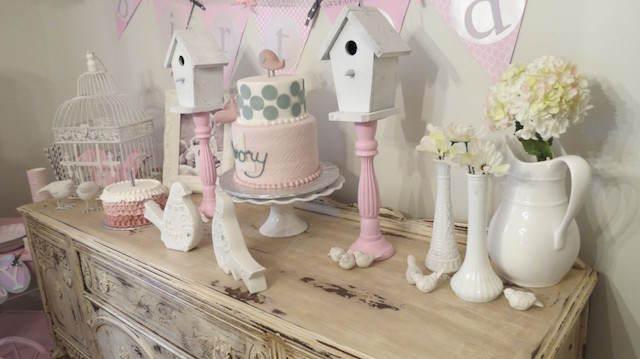feliz cumpleaños magnífica decoración vintage pájaros