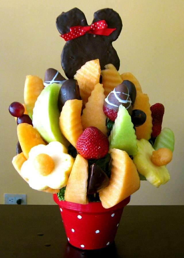 ideas fiestas infantiles arreglos originales frutas