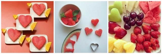 frutas forma corazón ideas boda decoración original