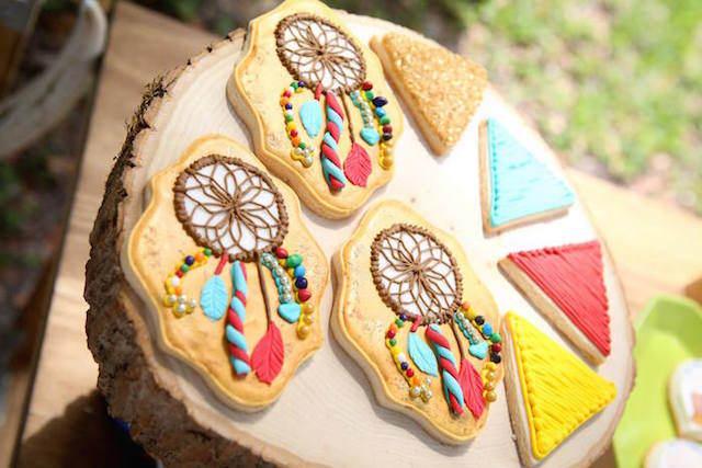 galletas decoración temática estilo bohemio chic
