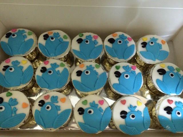 galletas decoradas temáticamente cumpleaños pájaros