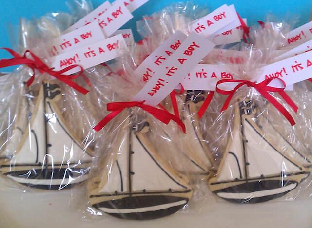 galletas náuticas barcos recuerdos para baby shower