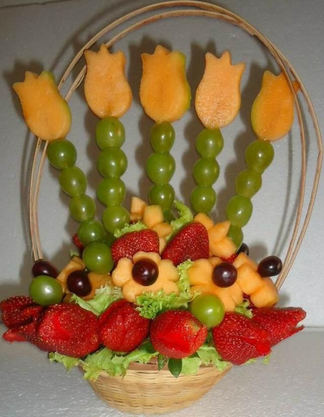 hermosos arreglos frutales fiestas infantiles