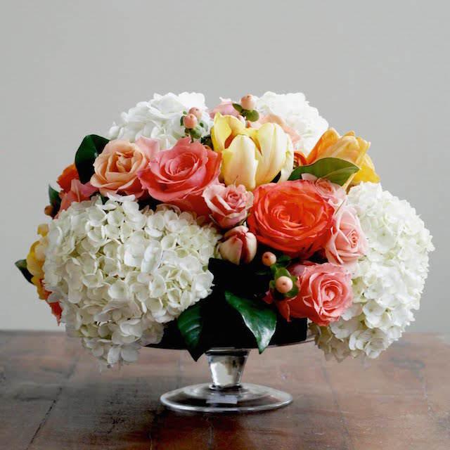 magnífica decoración arreglos florales fiesta