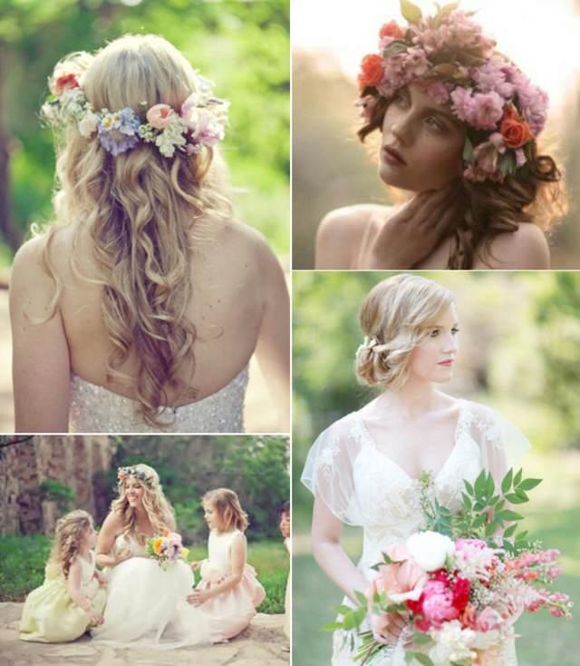 novia ramo de flores ideas estilo bohemio