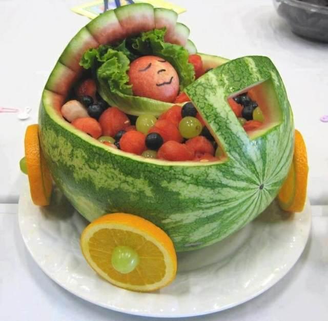 originales arreglos frutales ideas interesantes fiestas infantiles
