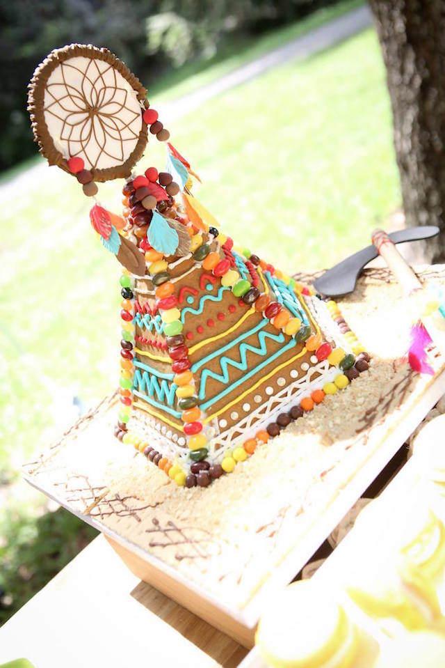 fascinante pastel estilo boho chic feliz cumpleaños