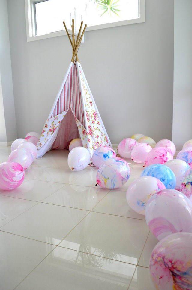 preciosa decoración cumpleaños estilo boho colores tiernos