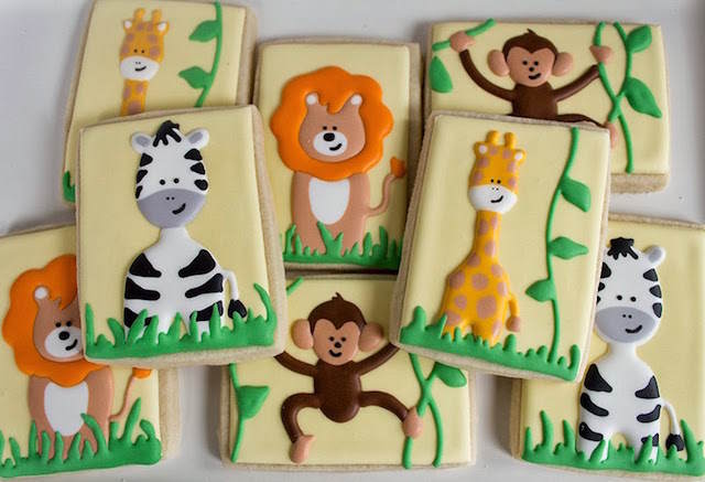 lindas galletas bautizo tema animales