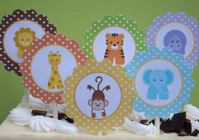 preciosos recuerdos para baby shower safari