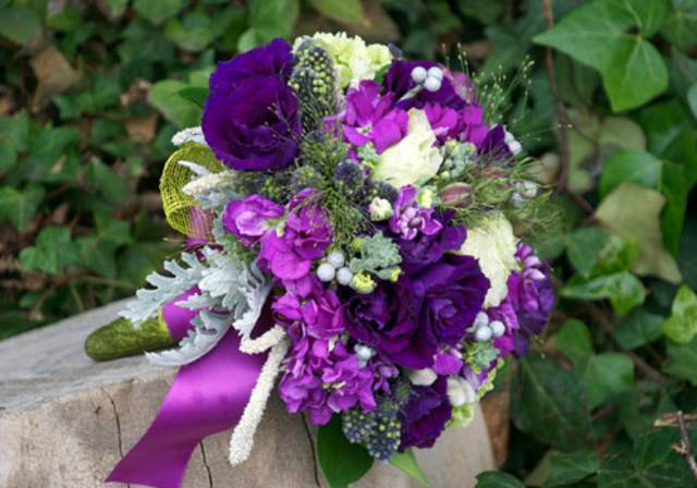 ramo de flores precioso estilo boho boda ideas