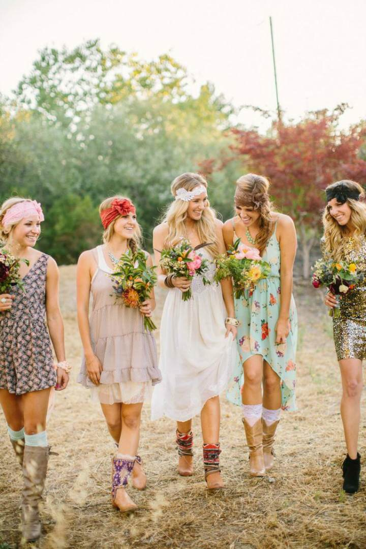 ramo de flores ideas boda estilo bohemio