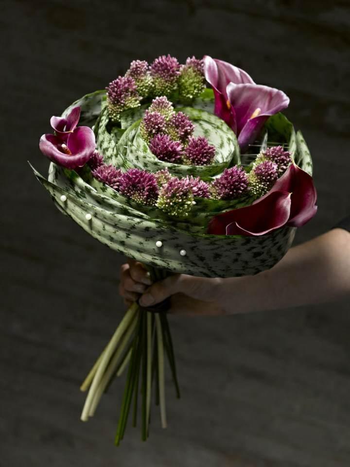 ramo de flores moderno ideas preciosas