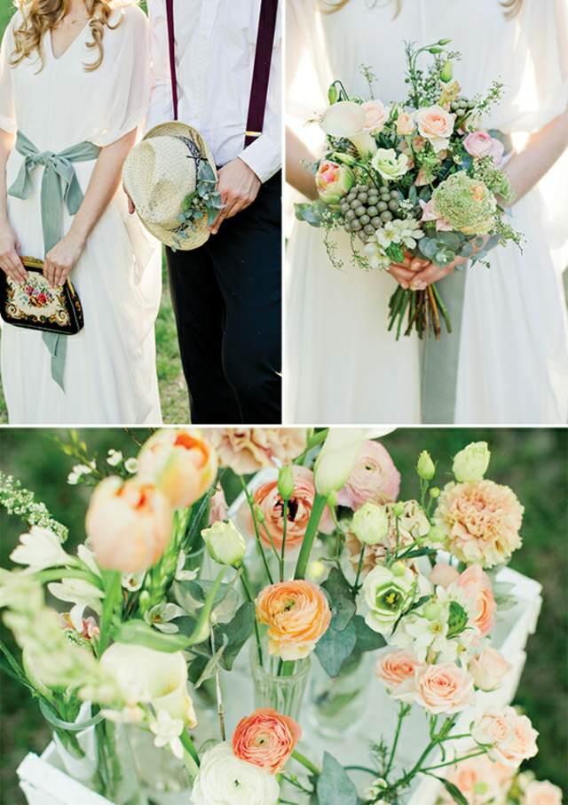 ramos flores estilo bohemio ideas maravillosas