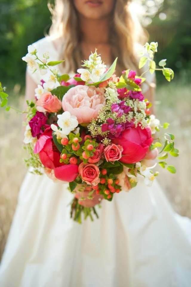 ramo flores preciosos novia ideas estilo boho