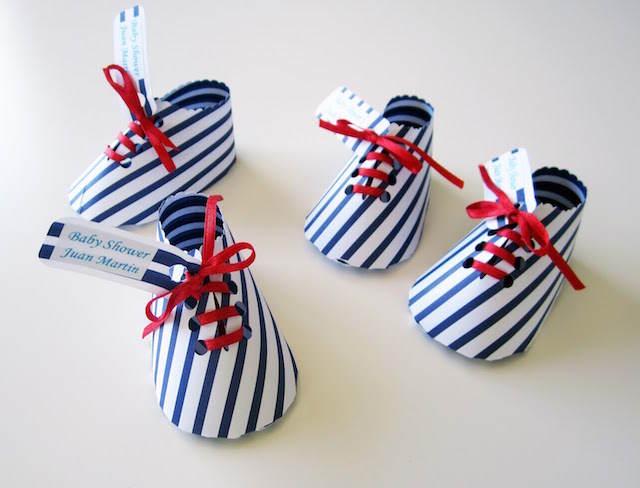 recuerdos para baby shower nautico zapatos preciosos