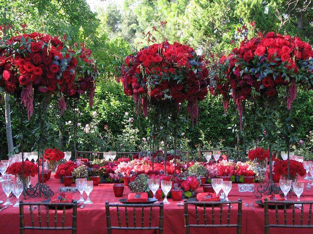 suntuosa decoración flores fiesta elegante