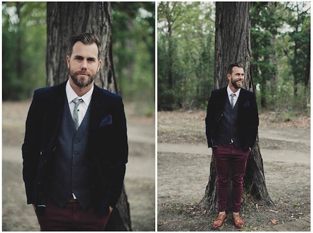 tema vintage peluche trajes de novio 2015