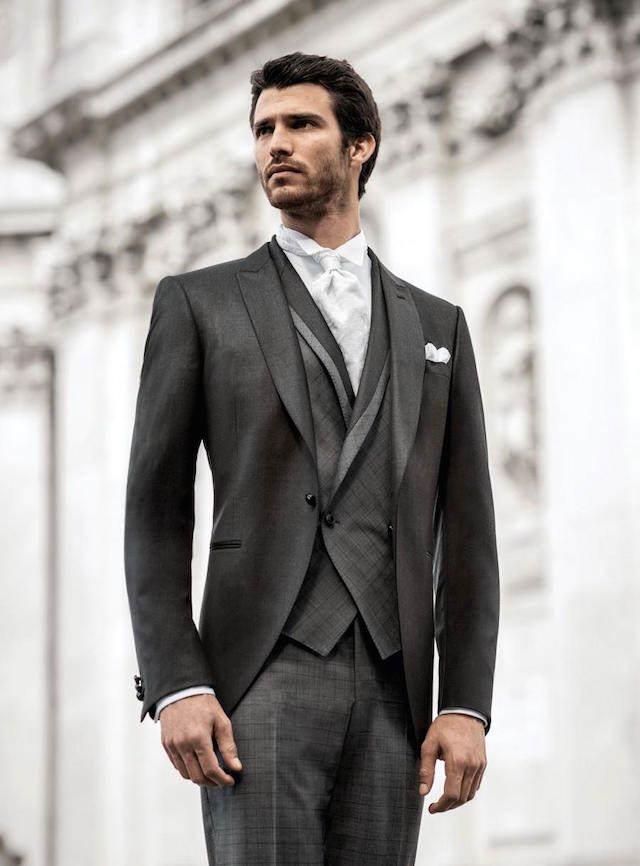 trajes de novio vintage elegantes chaleco